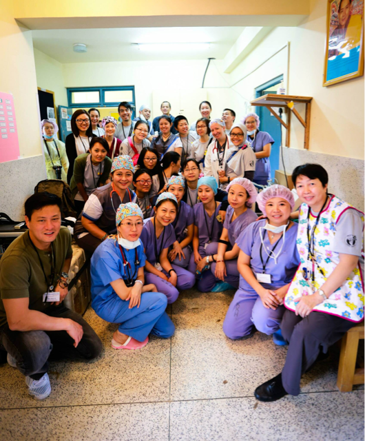 Commemorating a job well done: A total of 67 surgeries were successfully completed at the Paro Hospital in Paro, Bhutan, during mission in September 2014.