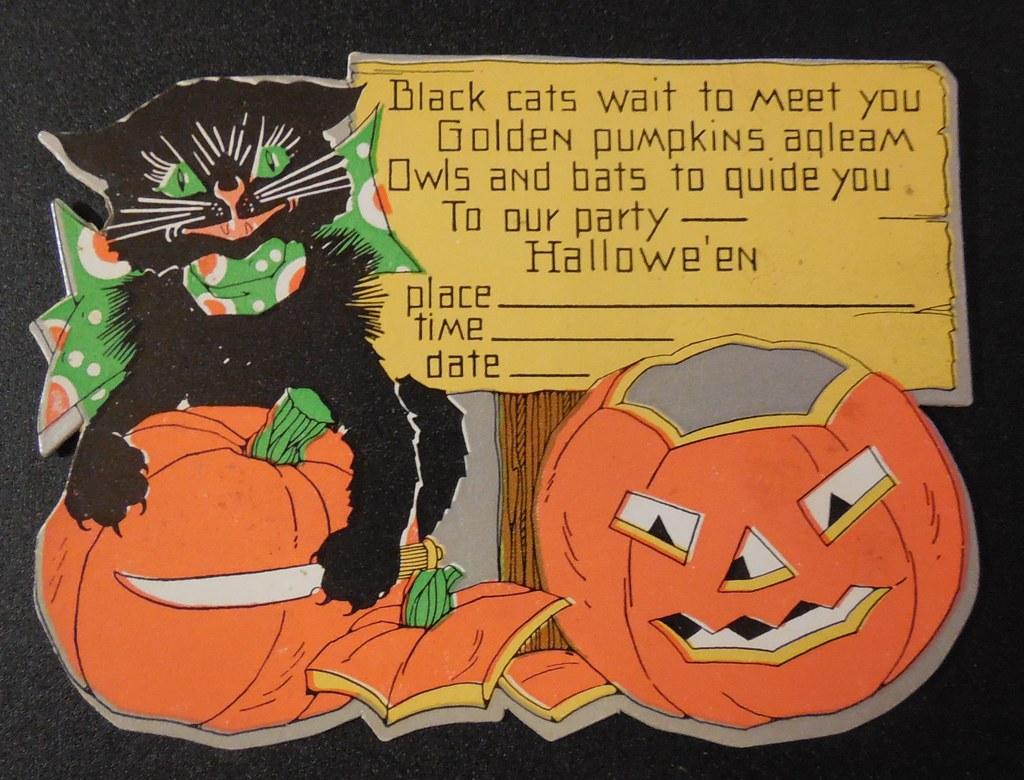 Vintage Halloween Invitations | Dave | Flickr