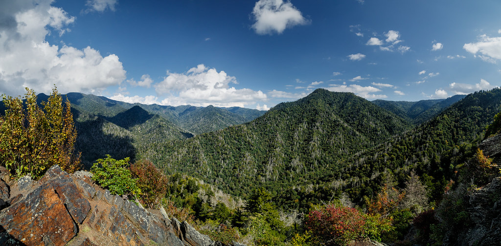 Mount Leconte From The Chimney Tops The Eastern View