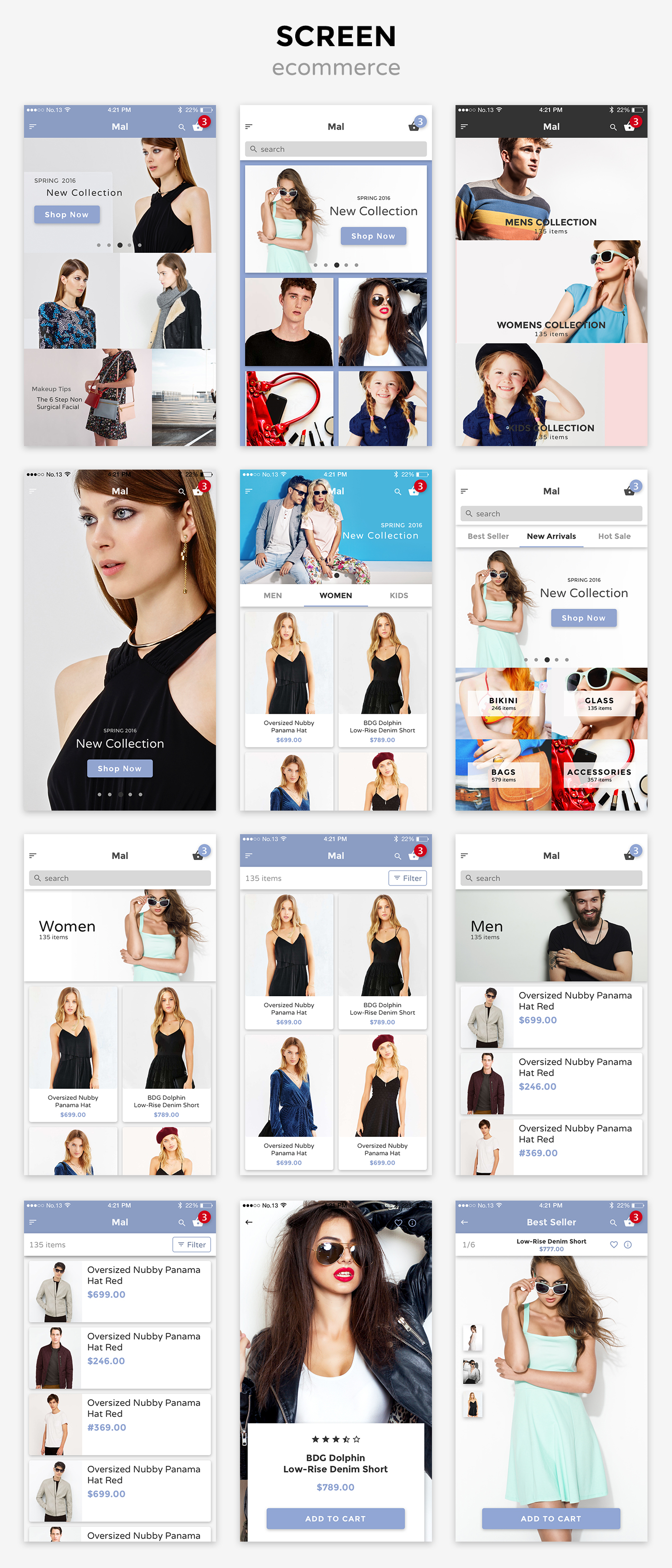 mal ecommerce Mal Mobile UI KIT  (User Interfaces)