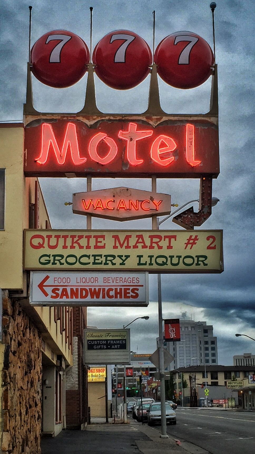 777 Motel - 777 South Virginia Street, Reno, Nevada U.S.A. - May 22, 2015