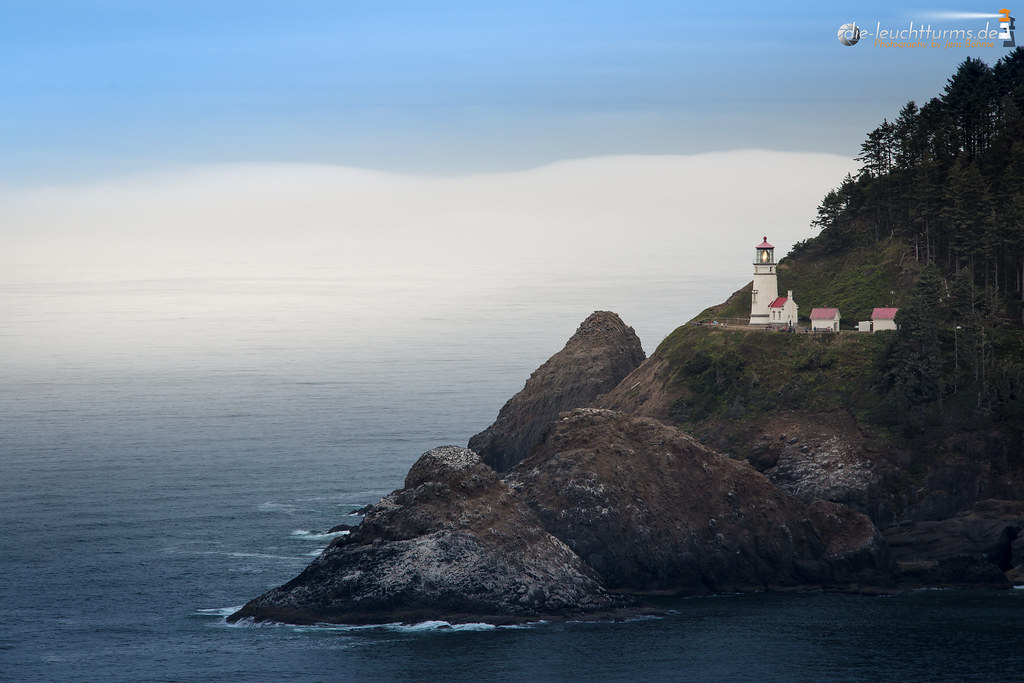 Morning seafog behind the Heceta Head Lighthouse