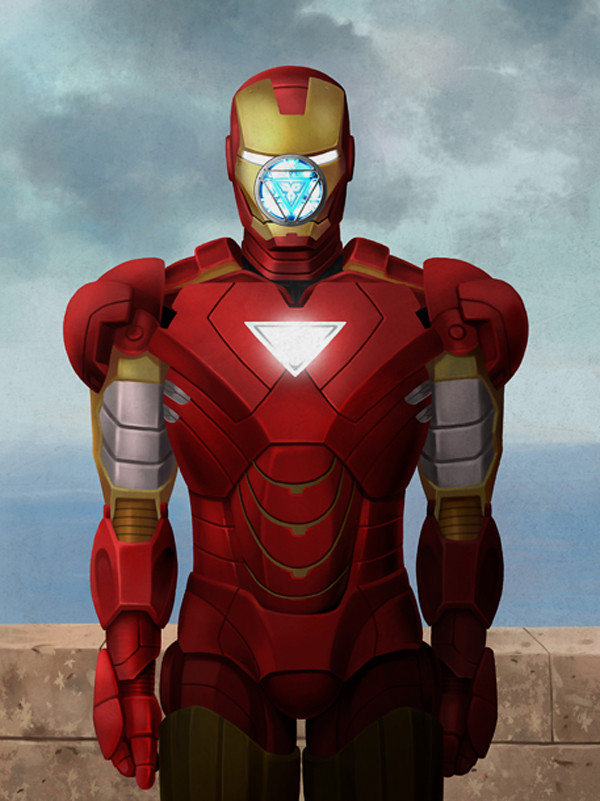 Magritte Iron-Man by Ben Chen
