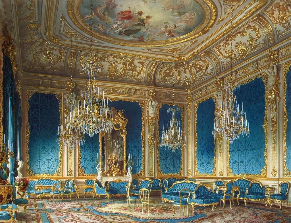 The mansion of von Stieglitz: The Blue Drawing-Room. 1870