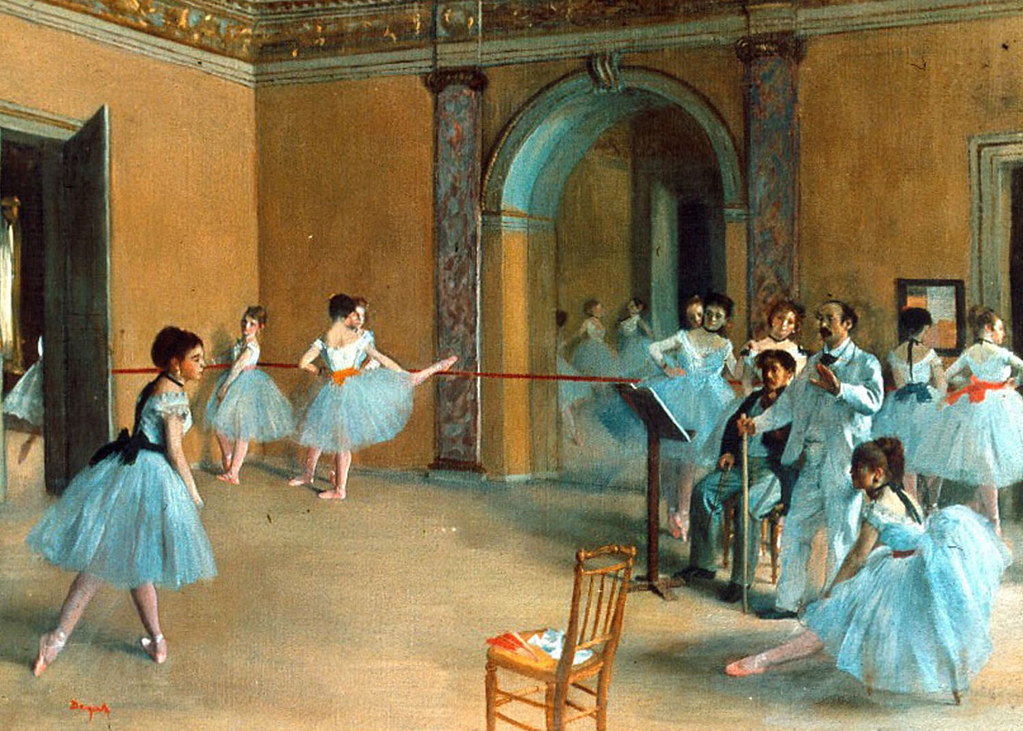 Rehearsal of the Scene by Edgar Degas, 1872