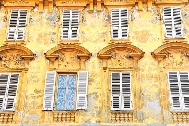 Nizza Nice Côte d'Azur Architektur Fassaden Fenster Gebäudedetails Formen Farben Foto Brigitte Stolle März 2016