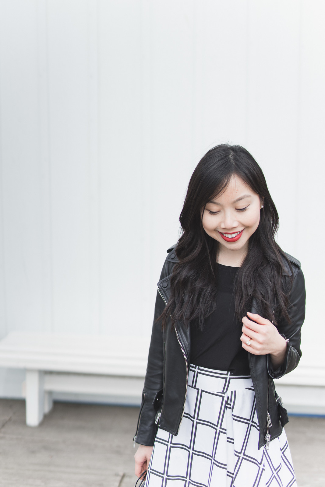 Black and white graphic skirt