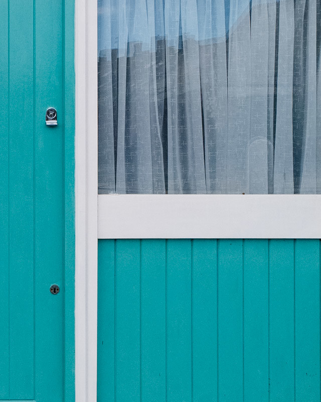 turquoise door and window