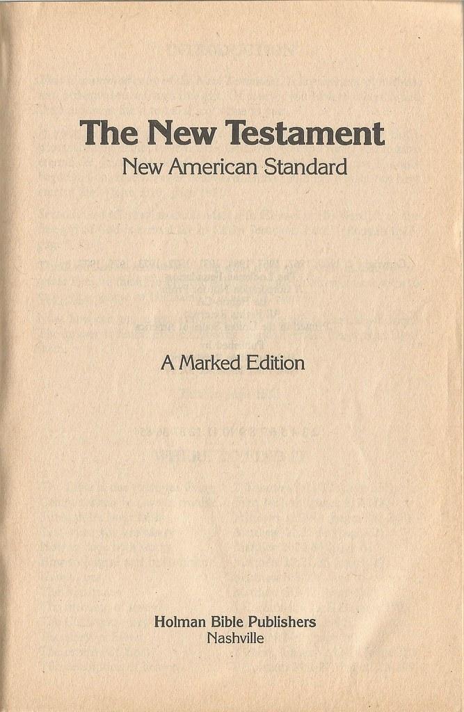 new american standard bible  nasb