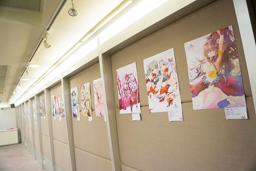場內展示的繪圖作品