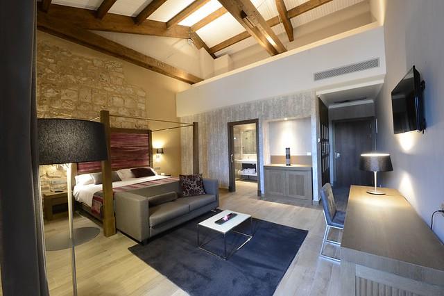 Habitación Suite Junior del Hotel Balneario Monasterio de Valbuena
