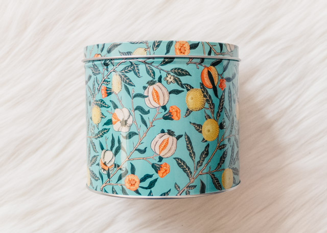 william morris style pattern tin