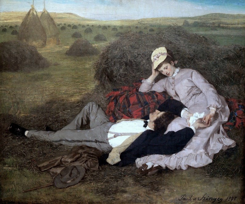 Lovers by Pal Szinyei-Merse, 1870.