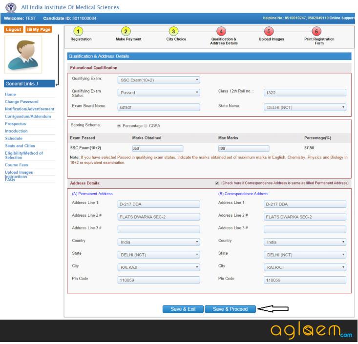 AIIMS MBBS Application Form