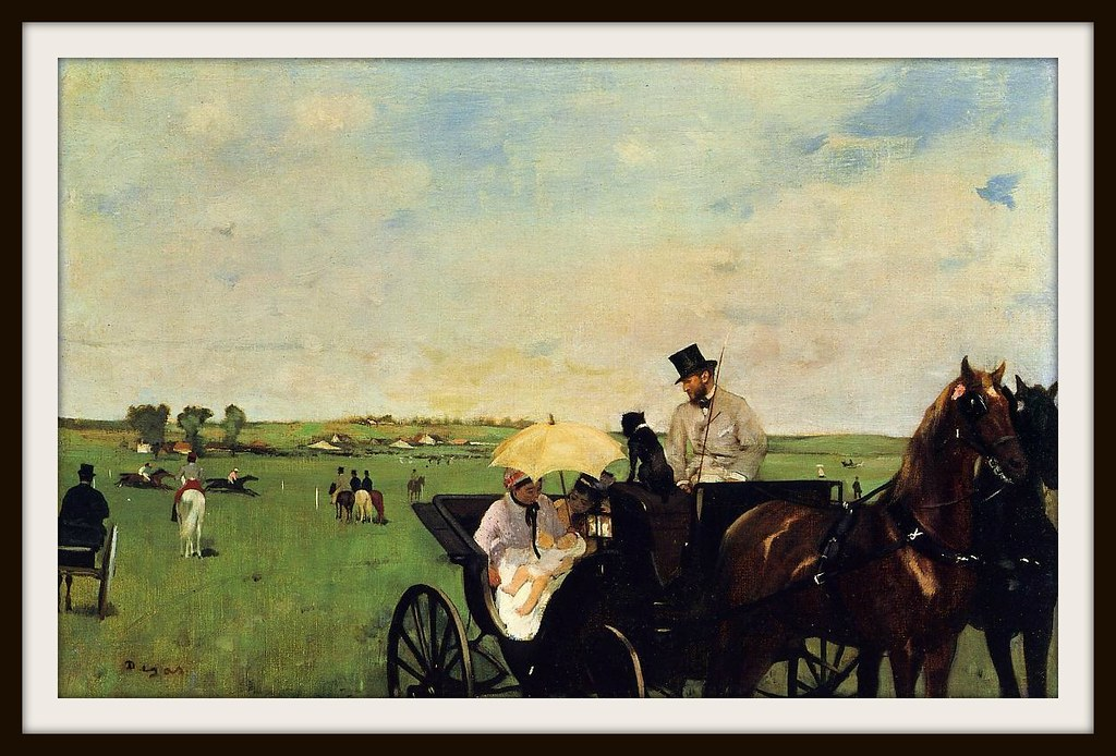 A Carriage at the Races by Edgar Degas, 1872.