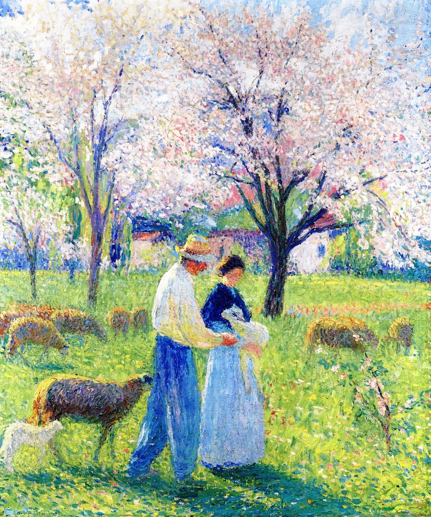 The Lovers of Spring by Henri Martin (French, 1860 - 1943).