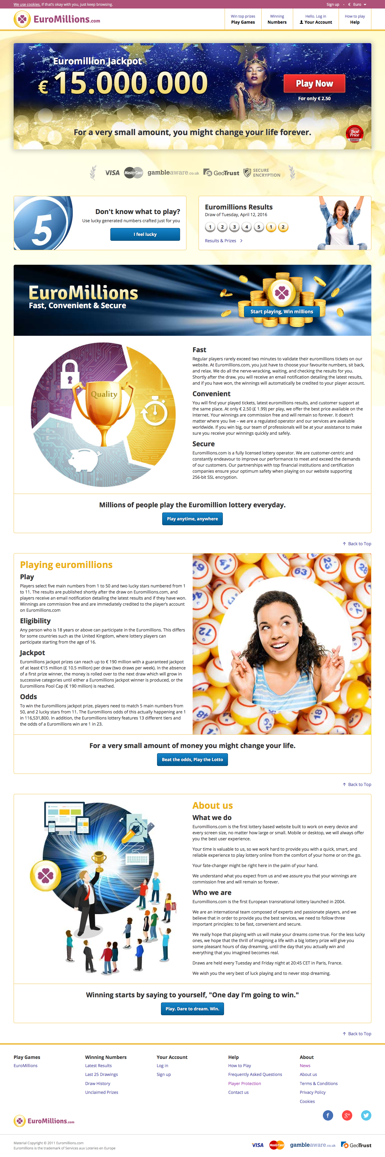 Euromillions.com - Homepage