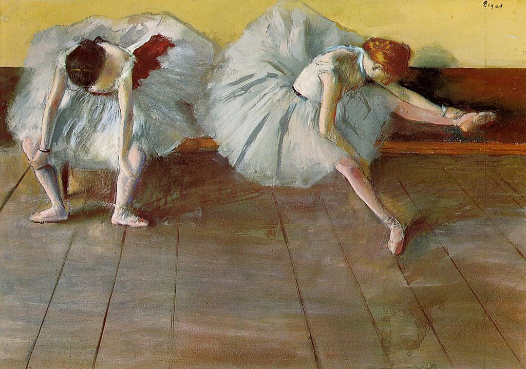 Two Ballet Dancers by Edgar Degas - circa 1879