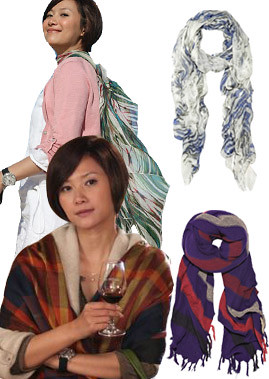 Love scarf style with Xu jinglei school match