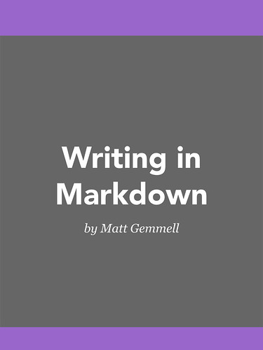 Writing in Markdown book cover