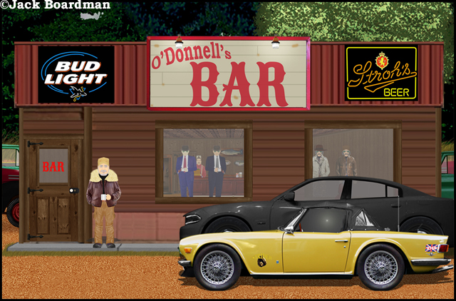 Daisy saw the hitmen at O'Donnell's Bar ©Jack Boardman