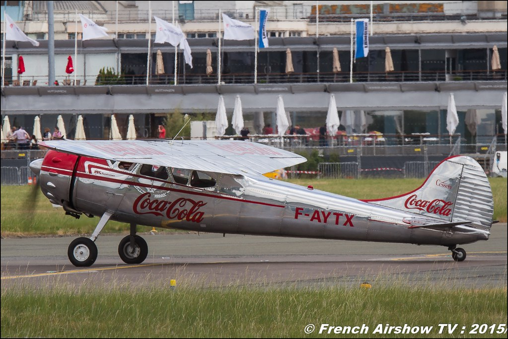 Cessna 195 - F-AYTX , Coca Cola , Foug'Air Association, Paris Airshow 2015 , Salon du Bourget 2015 ,lebourget, Meeting Aerien 2015