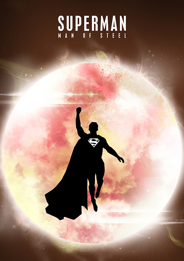 Superman silhouette design