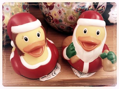 Xmas: Santa Claus mit Weihnachtsentchen