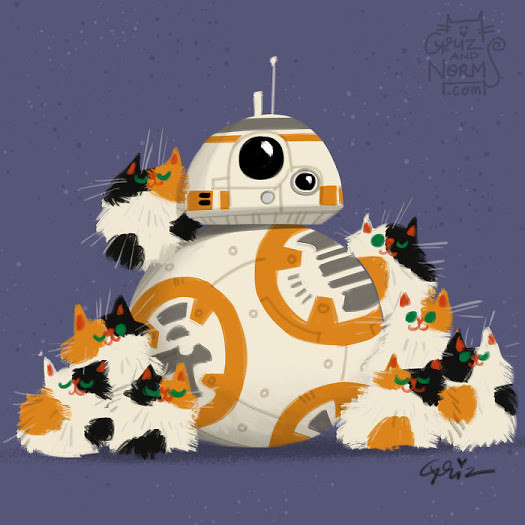 Star Wars Cats by GrizandNorm