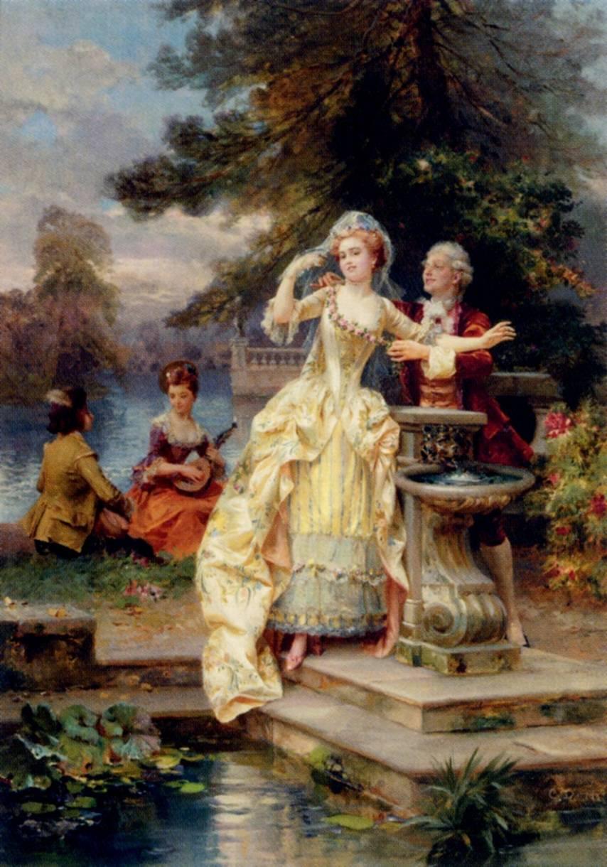 The Lovers by Cesare Augusto Detti (Italian, 1847 - 1914).