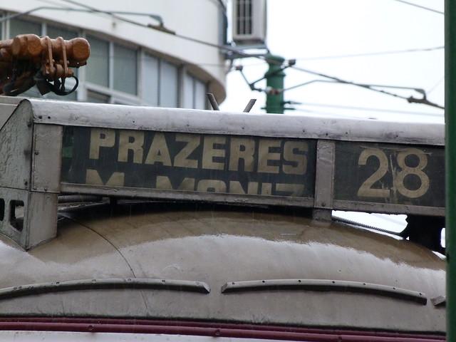 Tranvía 28 al Cementerio de los Prazeres (Lisboa)