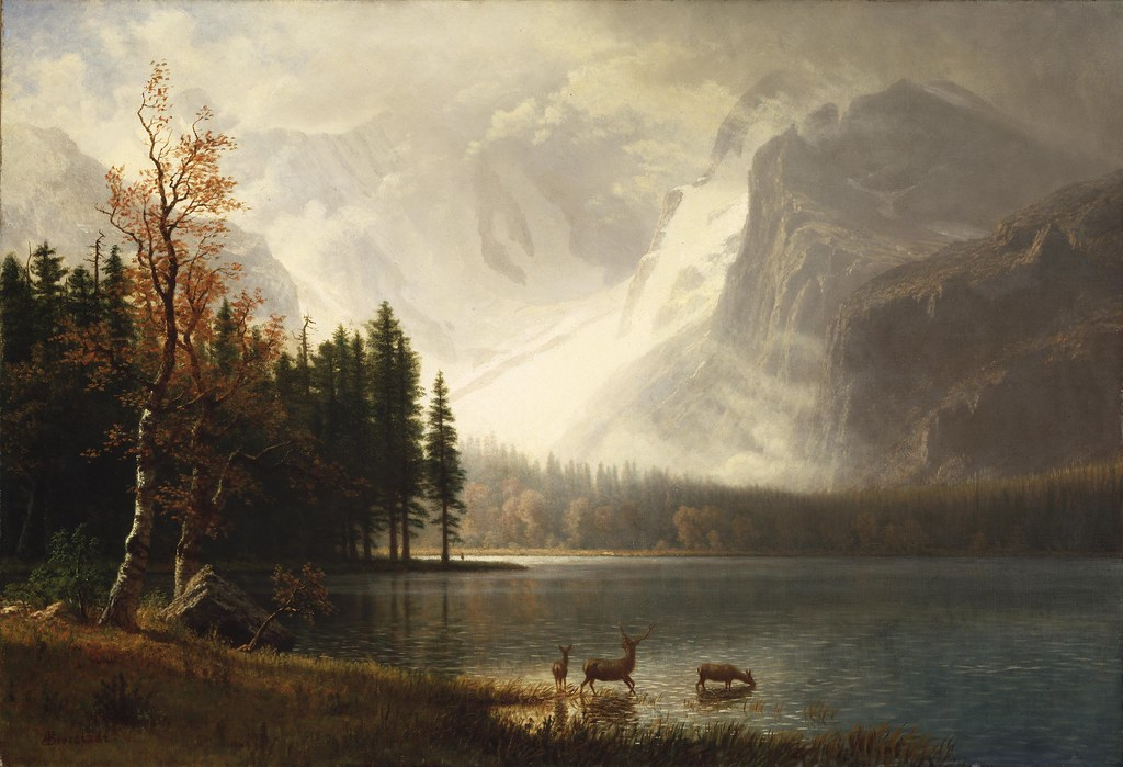 Whyte's Lake, Estes Park, Colorado by Albert Bierstadt, 1877
