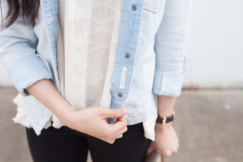 maison scotch denim jacket