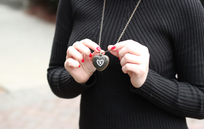 Bronze Heart Necklace from Forever 21