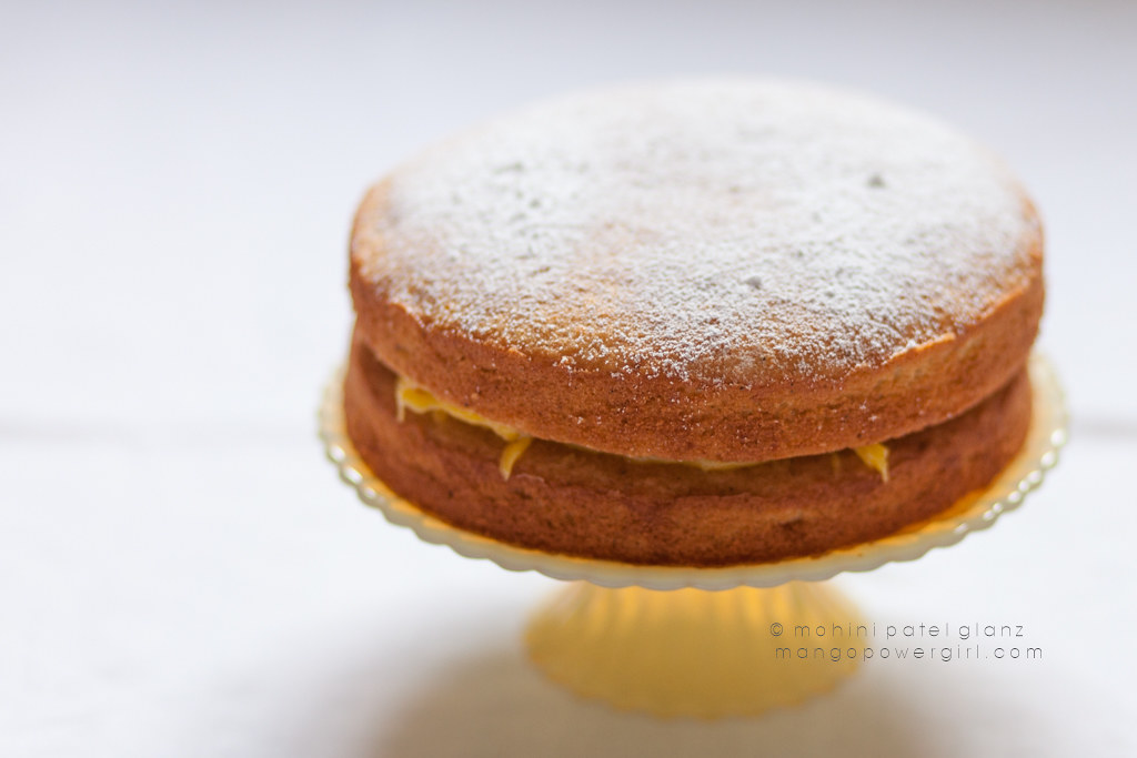 Cardamom Victoria Sandwich with Orange Curd