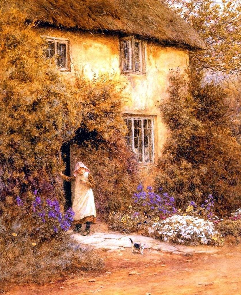 A Cottage Door by Helen Allingham