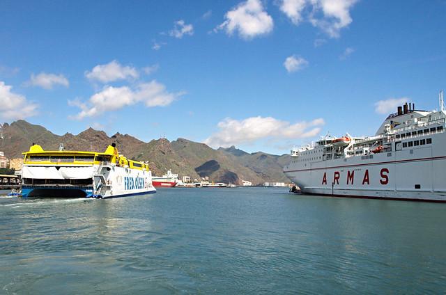 Ferry to Gran Canaria, Santa Cruz, Tenerife
