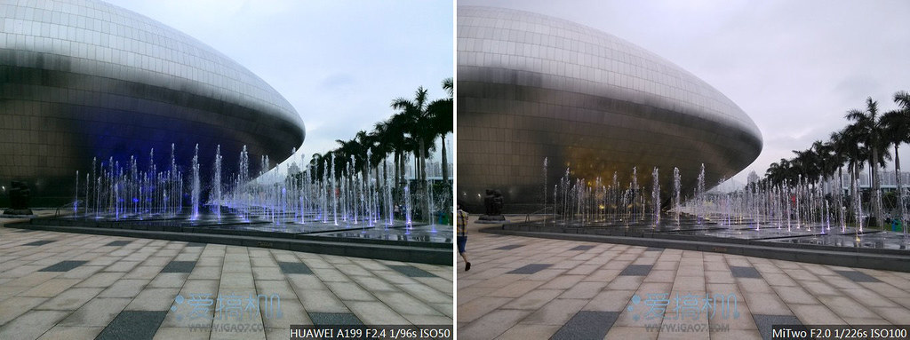 Leapfrog to the war 2A Huawei A199 VS millet shot comparison