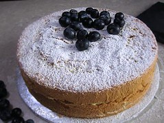 Blueberry genoise