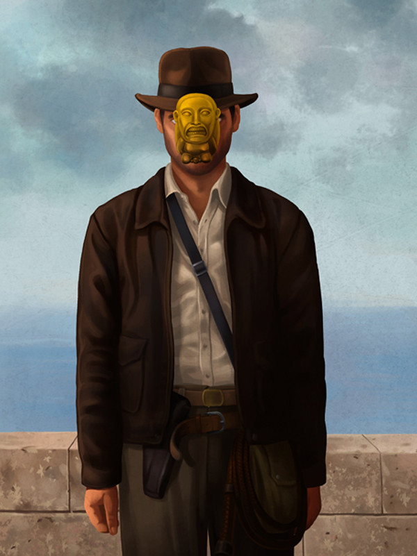 Magritte Indiana Jones by Ben Chen