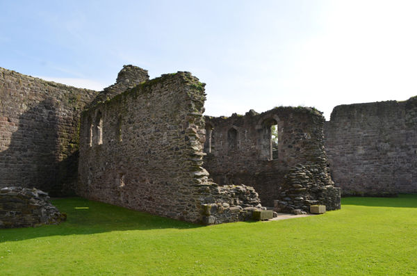 Inside Rothesay Castle, Rothesay, Bute