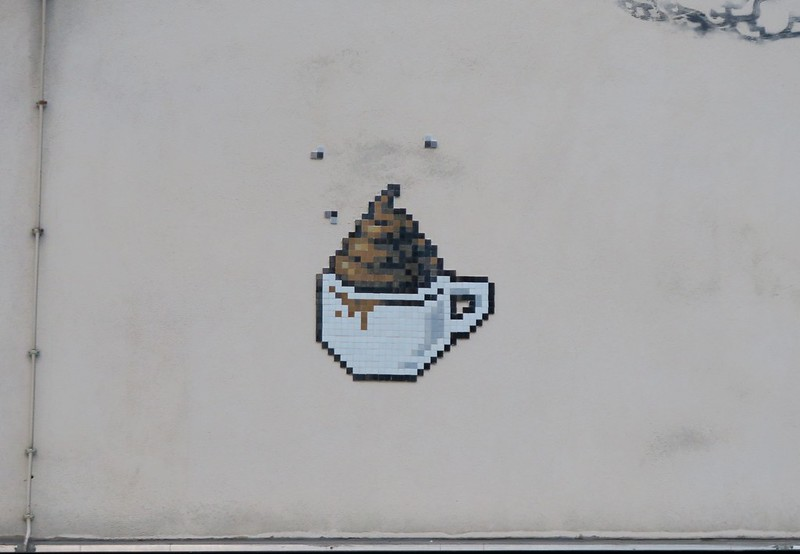 a cup of shit (by Space Invader, I think)