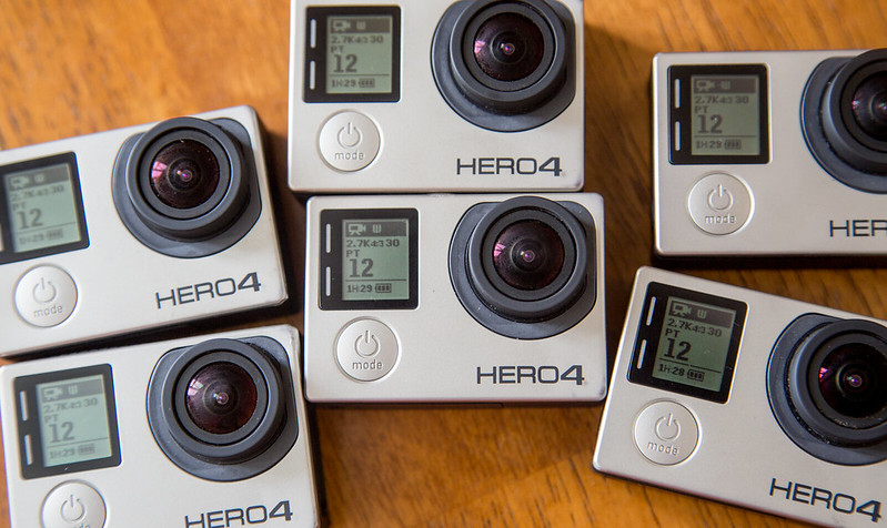 Six Gopros to film 360 video