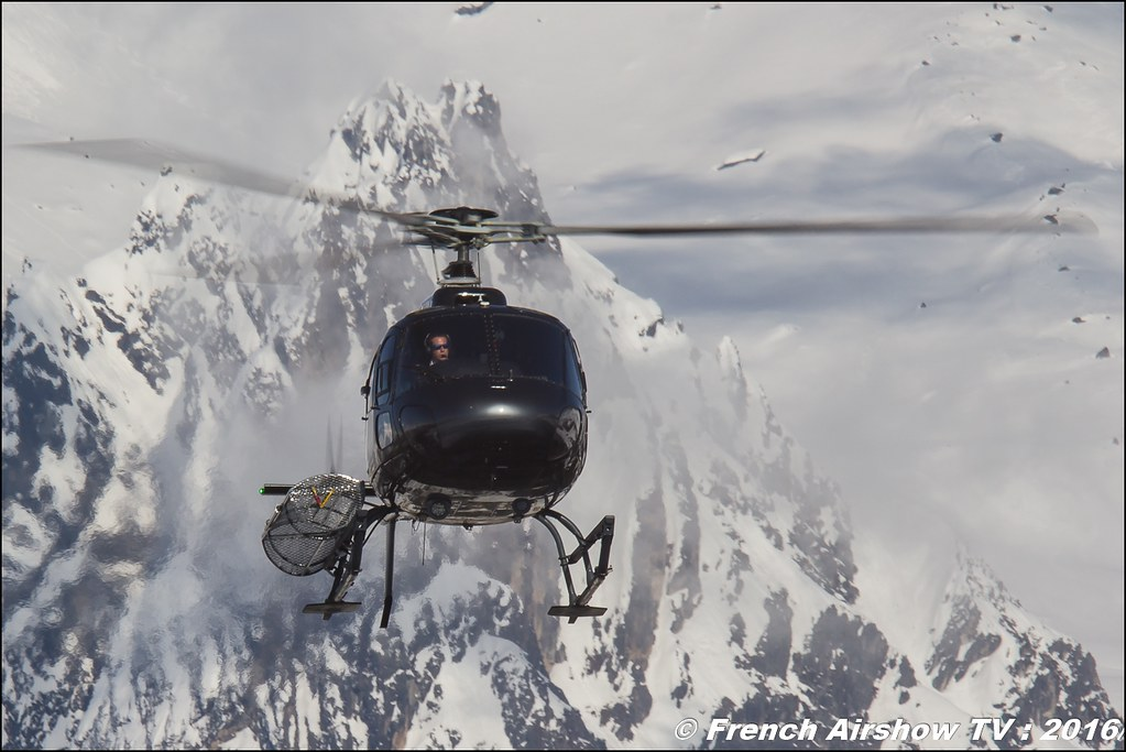 Aérospatiale AS-350 B1 Ecureuil - F-HMER Héli Securité - Helicopter Airline , Salon Hélicoptère à Courchevel 2016, Meeting Aerien 2016