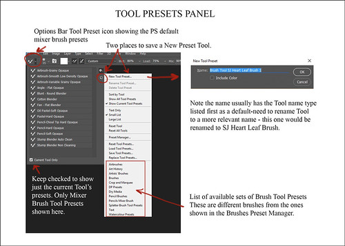 Info Sheet on Tool Presets Panel