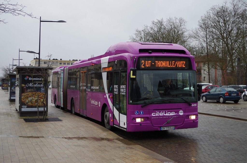 Thionville Volvo 7500 A N 176 4419 Ex Goteborg Citeline Ligne