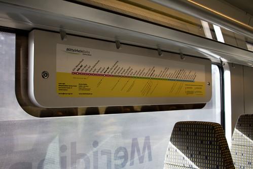 Linienverlauf der Mittelrheinbahn