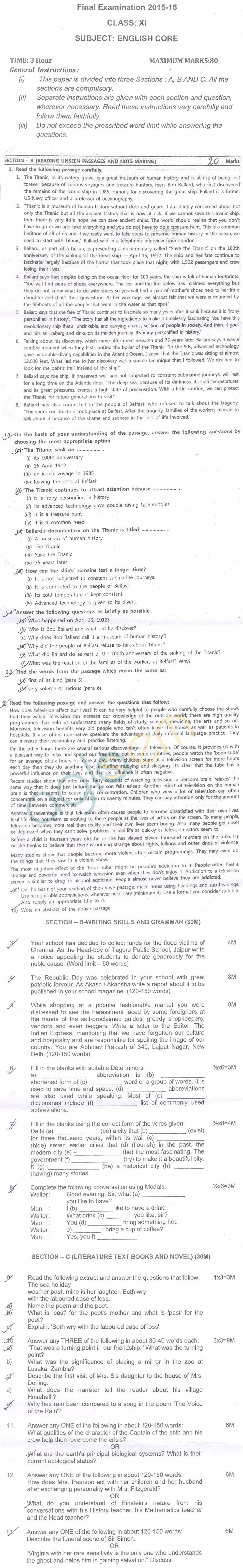 CBSE Sample Papers for Class 10 English Paper 4