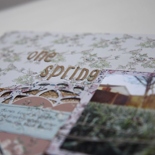 One Spring Morning scrapbook layout by StickerKitten