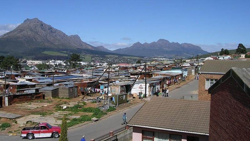 Landscape of Kayamandi township, Stellenbosch